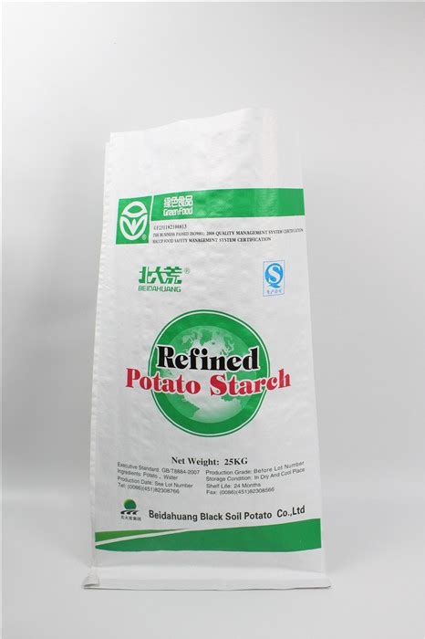 kg potato starch packing bag green food packing
