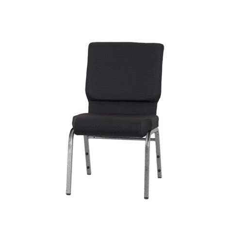 hercules series 18 5 w stacking church chair in black