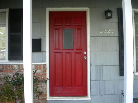 door color for brick house with black shutters front