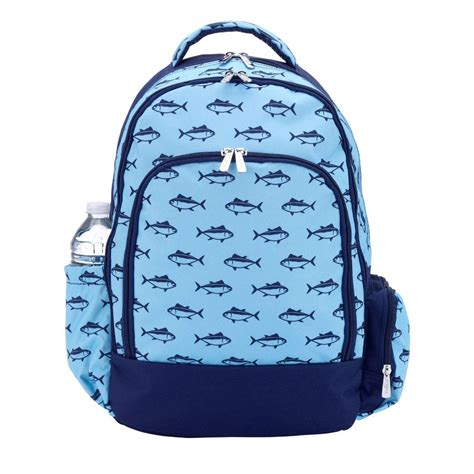 reject shop christmas tree skirt school of fish personalized backpack