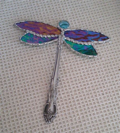 dragonfly stained glass l stained glass dragonfly suncatcher