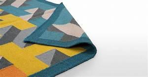 airbrick un tapis 120 x 170 cm bleu canard madecom With tapis bleu canard
