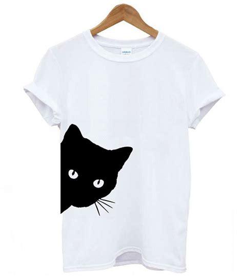black cat  shirt peeking cat catastic