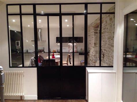 vitre separation cuisine porte vitrée acier mb creation