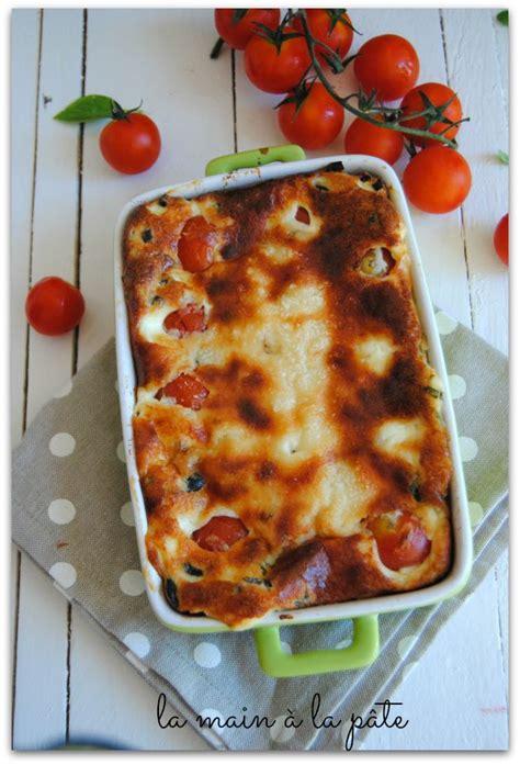 clafouti rapide aux tomates cerises et parmesan