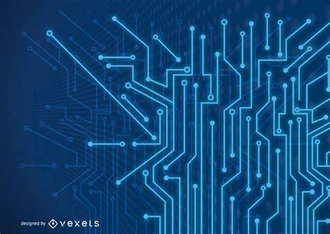 fondo de l 237 neas de tecnolog 237 a azul fluorescente futurista descargar vector