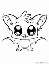 Coloring Bat Cute Pages Drawings Animal Halloween Colouring Printable Phoenix Baby Bird Coloringpagecentral Print sketch template