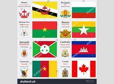 World Flags Brunei Bulgaria Burkina Faso Stock Vector