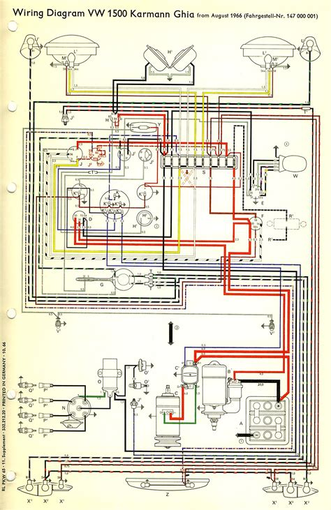 Wiring Diagram by Thesamba Karmann Ghia Wiring Diagrams