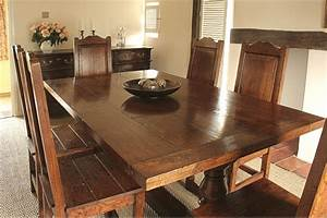 Oak Dining Table Chairs In Period Suffolk Country Cottage