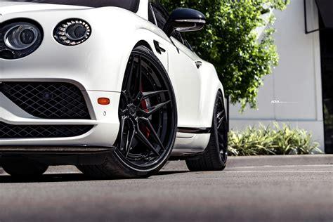 white bentley continental gt  adv advanced series wheels