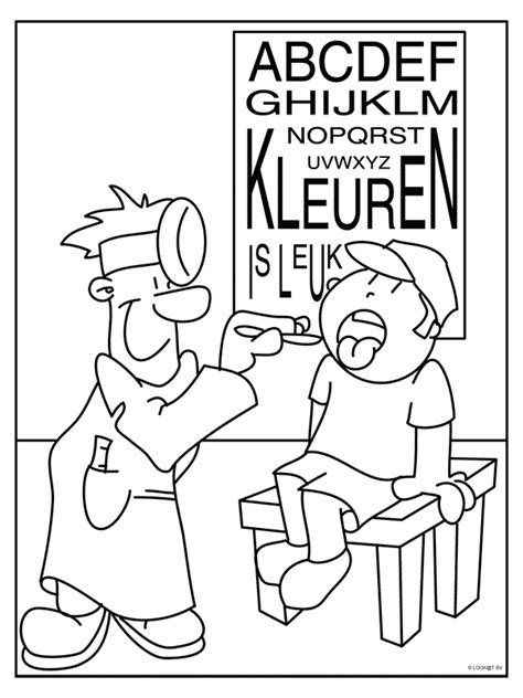 Dokter Kleurplaat by Kleurplaat Dokter