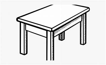 Desk Clipart Dining Meja Cartoon Clip Transparent