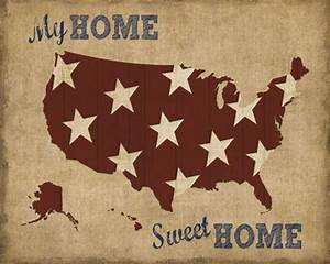 My Sweet Home : my home sweet home usa map fine art print by sparx studio at ~ Markanthonyermac.com Haus und Dekorationen