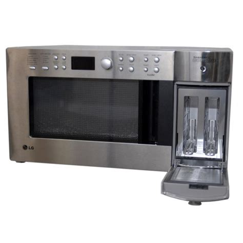 lg toaster combo shop lg stainless steel finish microwave toaster combo