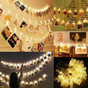 40, Led, Hanging, Picture, Fairy, Lights, Photo, Peg, Clip, String, Lights, Home, Decor