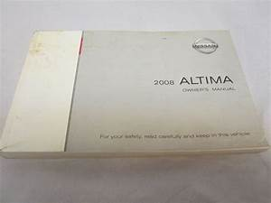 2008 Nissan Altima Owners Manual W   Case Warranty Quick