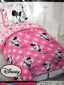 4p minnie mouse twin comforter sheets girls pink single