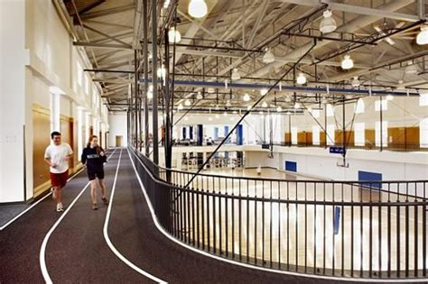 physical therapy facilities   small indoor track