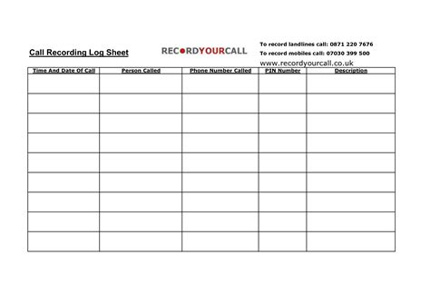 log template 4 best images of free printable phone call log template phone call log template free