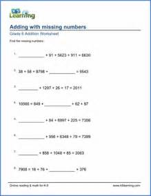 6th Grade Addition and Subtraction Worksheets