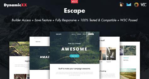 escape responsive email  builder responsive