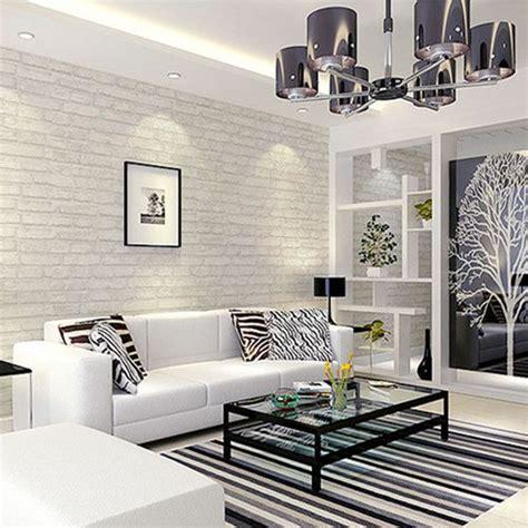 Living Room Wallpaper Grey Walls by White Grey Real Looking Brick Pattern Wallpaper Wp120