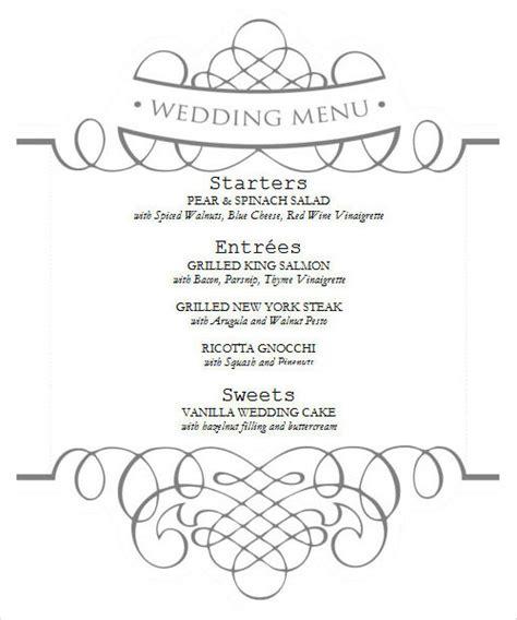 dining menu template free 29 menu templates sle templates