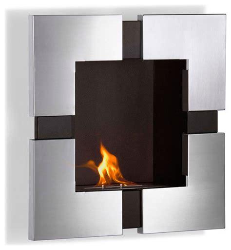 Indoor Biofuel Fireplace - elm wall mounted ethanol fireplace modern indoor