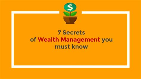 7 Secrets Of Wealth Management You Must Know