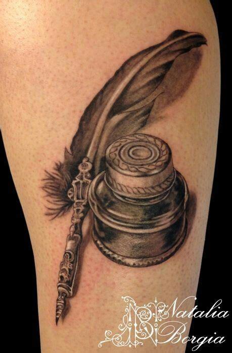 tatouage encrier  plume tattoos pinterest