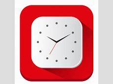 Clock Icon Long Shadow iOS7 Iconset PelFusion