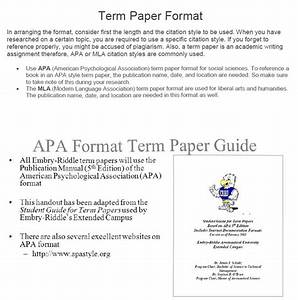 Example Term Paper Another Word For Assigned Example Term Paper  Example Research Paper Apa Style With Headings Persuasive Essay About  Immigration