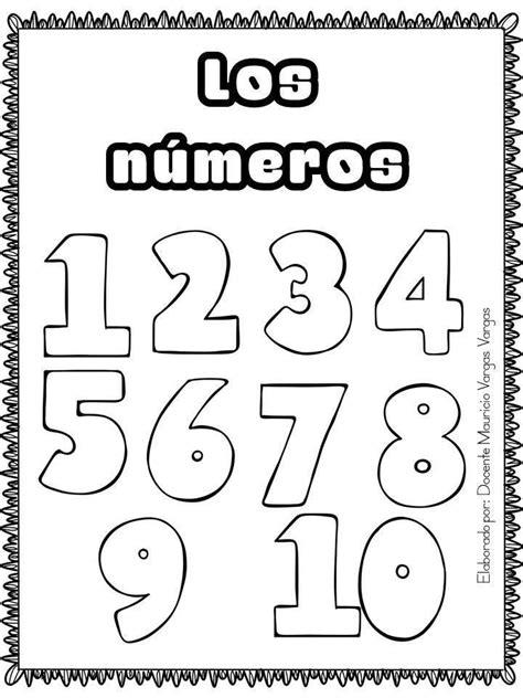 Cuaderno para trabajar los Números (1 Preescolar