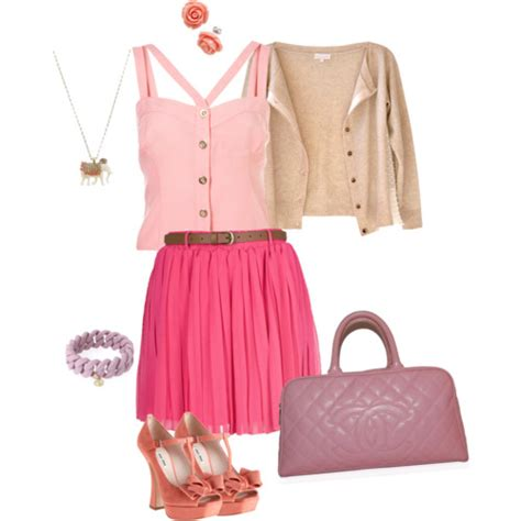 Pink cute outfit - Polyvore