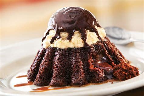 molten chocolate cake grill bar menu chilis