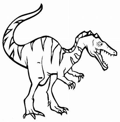 Coloring Dinosaur Pages Cartoon Printable