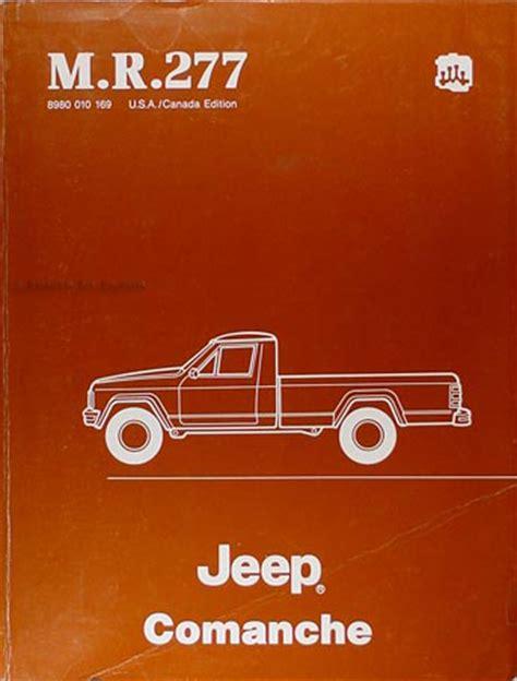 how to download repair manuals 1992 jeep comanche regenerative braking 1986 jeep comanche repair shop manual original m r 277