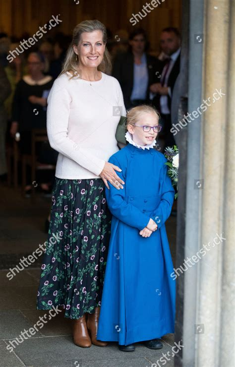 Sophie Countess Wessex leaves Wells Cathedral after ...