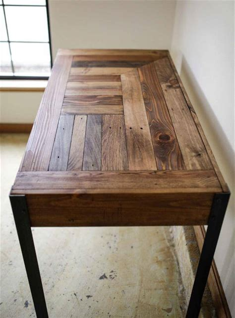 diy pallet desk   drawers study desk  pallets