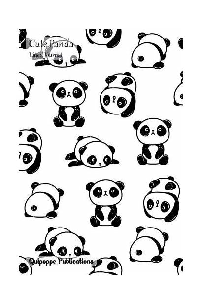 Panda Notebook Lined Notebooks Coloring Template Composition