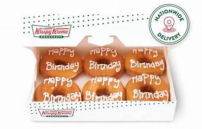 Birthday Happy Krispy Kreme Half Dozen Say