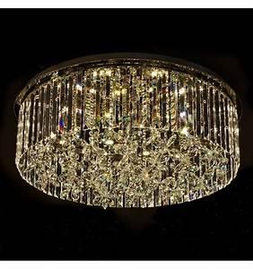 Plafonnier Design Led : plafonnier en cristal design luminaire moderne irene ~ Melissatoandfro.com Idées de Décoration