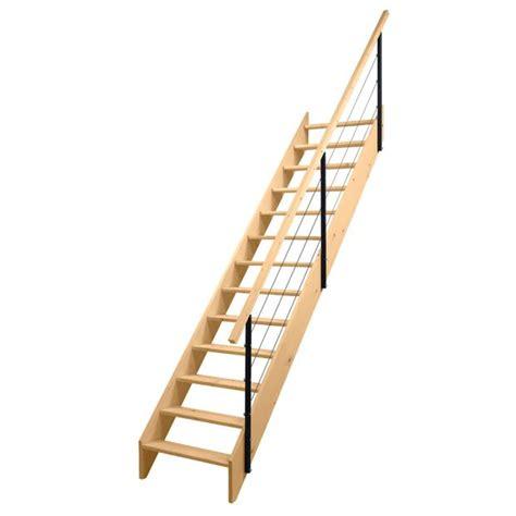 escalier droit uno sapin massif re c 226 bles lapeyre