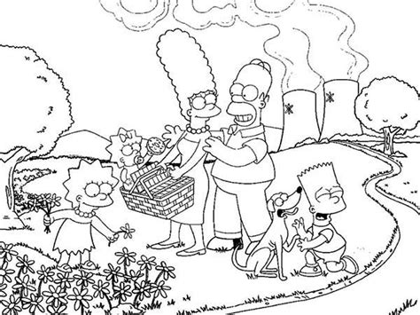 coloring pages of the simpsons family coloring page
