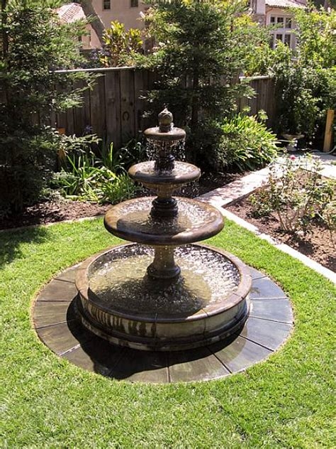 backyard water fountains unique additions to your outdoor space the soothing