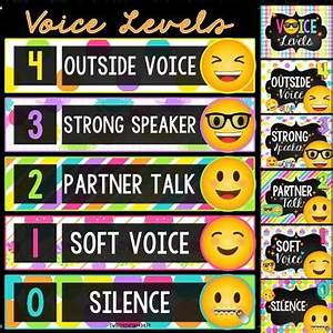 Voice Level Chart Voice Level Chart Emoji Theme By Sweet Prints By Tpt