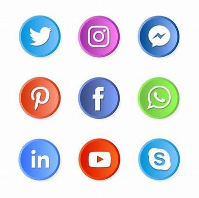 Social Icons Vector Clipart Graphics Vectors System
