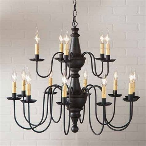country chandelier lighting harrison 15 arm wooden chandelier in black primitive