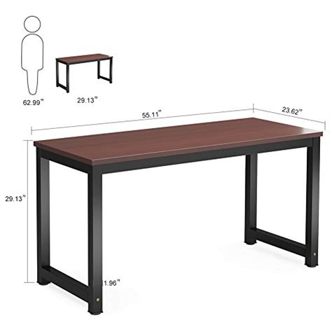 Cheap Study Desk by Tribesigns Computer Desk 55 Quot Large Office Desk Computer